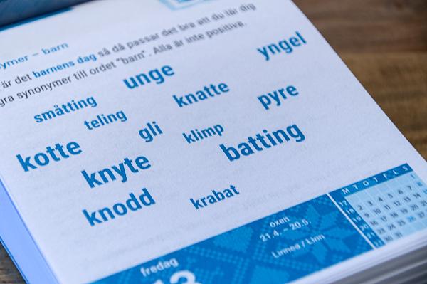 Sprachkalender Schwedisch - Blick ins Innere