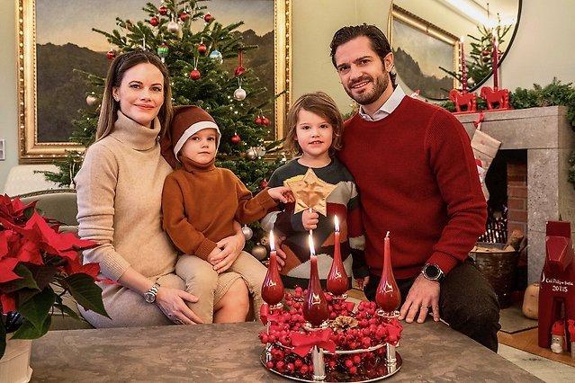 Carl Philip mit Familie an Weihnachten