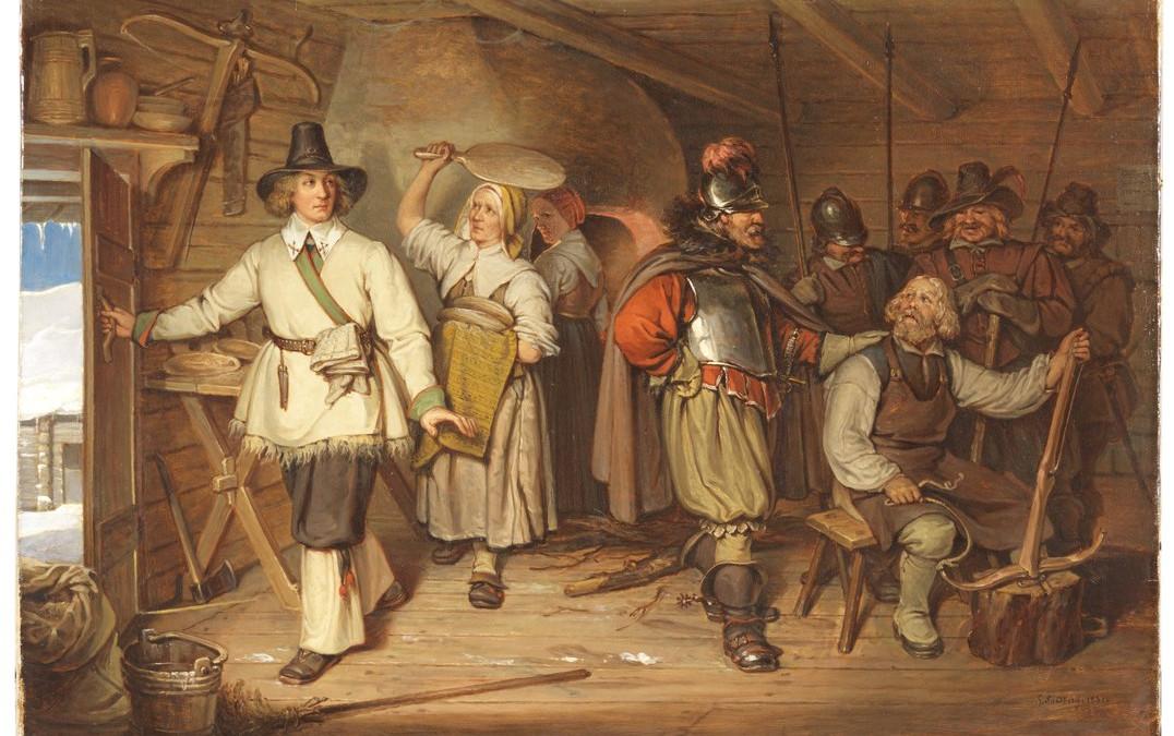 Gustav Vasa auf seiner Flucht in Isala