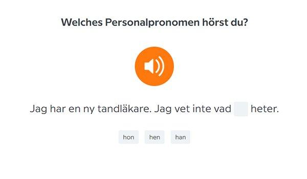 Übung bei Babbel, Schwedisch lernen
