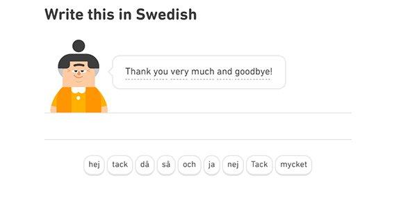 Duolingo Übung