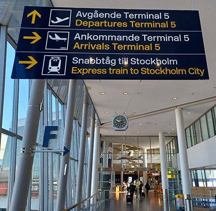 Wegweiser zum Arlanda Express